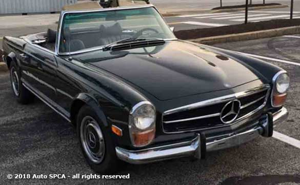 Drivers Quarter view of our 1969 Mercedes Benz 280sl